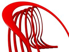 Free 3d Abstract Red Curves Royalty Free Stock Photo - 6624845