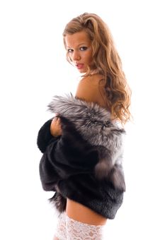 Free Portrait Of A Beautiful Woman Wearing Winter Coat Royalty Free Stock Photos - 6625438