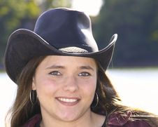 Free Cowgirl Outside Royalty Free Stock Photos - 6625518