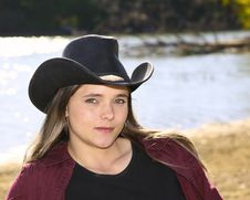 Free Cowgirl Outside Stock Photography - 6625522