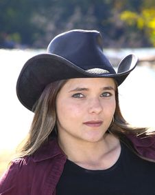 Free Cowgirl Outside Royalty Free Stock Photo - 6625525