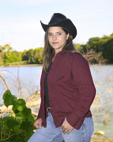 Free Cowgirl Outside Royalty Free Stock Photo - 6625595