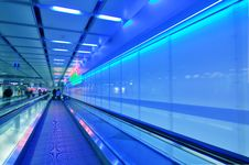 Free People Moving In Airport Corridor Stock Photo - 6627560