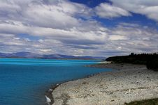 Lake Pukaki Royalty Free Stock Photography