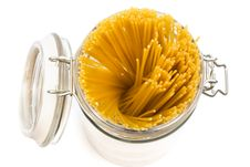 Free Pasta In Glass Can Stock Photos - 6629553