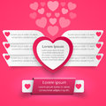 Free Red And White Paper Hearts Valentines Day. Abstract 3D Digital Illustration Infographic. Royalty Free Stock Photo - 66256595