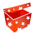 Free Red Gift Box With Stars Stock Image - 6630181