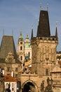 Free Prague Bridge Towers Stock Image - 6636221