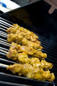 Free Chicken Satay BBQ Stock Photos - 6630263