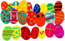 Multicolored Easter Eggs Background Royalty Free Stock Image