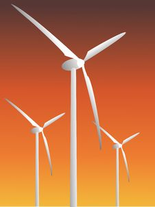 Free Wind Power Plants Royalty Free Stock Photo - 6630465