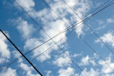 Free Wired Sky. Stock Image - 6630691