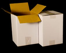 Free Cardboard Boxes Royalty Free Stock Photography - 6630707