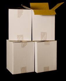 Free Cardboard Boxes Stock Photography - 6630782