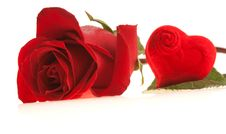Free This Rose And Heart To You Royalty Free Stock Image - 6630836