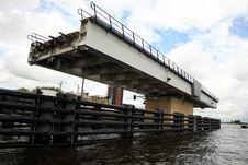 Free The Train Swing Bridge - Netherlands Royalty Free Stock Image - 6631026