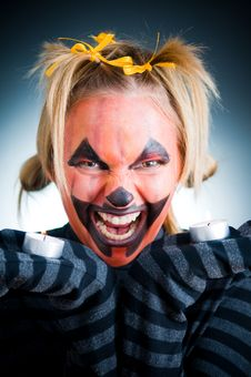 Free Angry Jack-o-lantern Girl Royalty Free Stock Images - 6631209