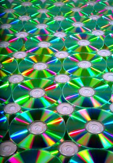 CD Romes For Background Stock Photo