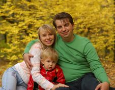 Free Family In Autumn Forest Stock Images - 6631534