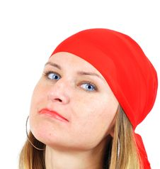 Free Nice Girl In Red Kerchief Royalty Free Stock Photography - 6631647