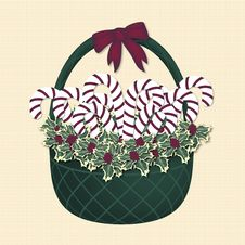 Free Green Christmas Basket Stock Photo - 6631660