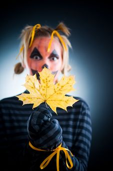 Free Halloween Girl With Tied Hands Stock Photos - 6631903