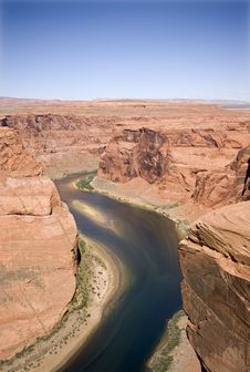 Free Horseshoe Bend Royalty Free Stock Photography - 6632427