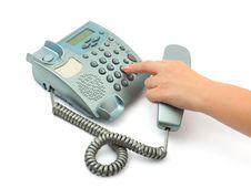 Free Telephone And Hand Stock Image - 6633191