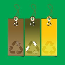 Free Set Of 3 Sale Tags With Recycling Illustration Royalty Free Stock Photography - 6633457