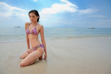 Free Woman At The Beach Royalty Free Stock Photo - 6634095