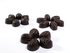Three Groups Of Chocolates Royalty Free Stock Photography