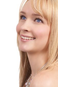 Free Portrait Of Beautiful Blonde Woman Royalty Free Stock Images - 6634189