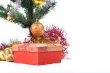 Present Under The Christmas Tree Royalty Free Stock Photography
