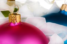 Free Wrapped Christmas Baubles Royalty Free Stock Image - 6635236