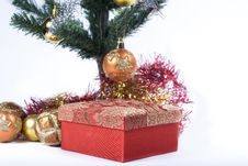 Present Under The Christmas Tree Stock Photography