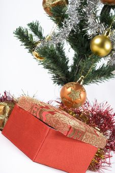 Free Present Under The Christmas Tree Royalty Free Stock Images - 6635439