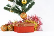 Free Present Under The Christmas Tree Royalty Free Stock Image - 6635496