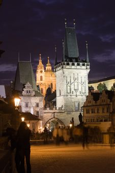 Free Prague Night Scenery Royalty Free Stock Photos - 6635498