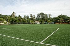 Meeru Football Pitch Stock Photography