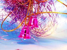 Christmas Hand Bells Stock Image