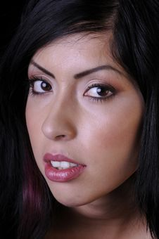Free Beautiful Hispanic Young Woman In Closeup Royalty Free Stock Photos - 6636478