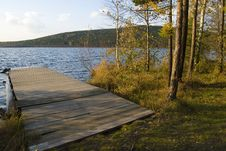 Wooden Moorage Stock Images
