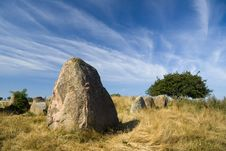 Gravesite Stones Royalty Free Stock Photo