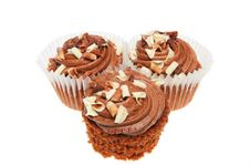 Free Three Chocolate Cup Cakes Stock Photography - 6636902