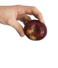 Free Apple In A Hand Stock Photos - 6637053