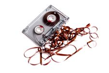 Free Old Cassette Music And Box. Royalty Free Stock Photography - 6637337