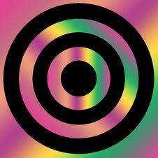 Multicolored Target Shape Stock Photo