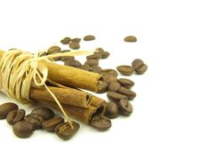 Free Cinnamon And Coffee Beans Stock Photos - 6638013