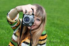 Free Woman With Photocamera Stock Photo - 6638310