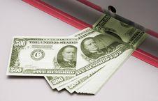 Cutting Dollars Royalty Free Stock Image
